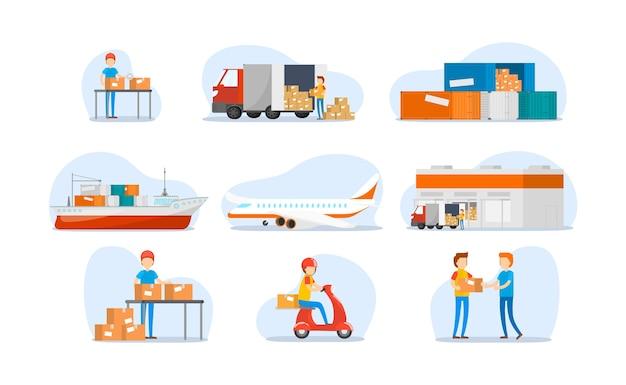 Impostato su spedizioni in tutto il mondo, trasporti pesanti
