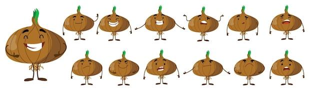 Seth è un simpatico personaggio di cipolla con diverse emozioni.