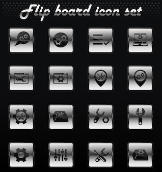 Le impostazioni del vettore capovolgono le icone meccaniche per la progettazione dell'interfaccia utente