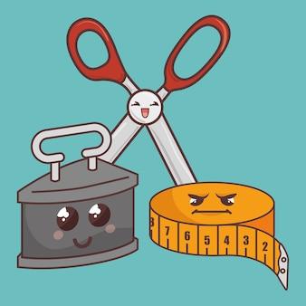 Caratteri divertenti degli elementi di cucito