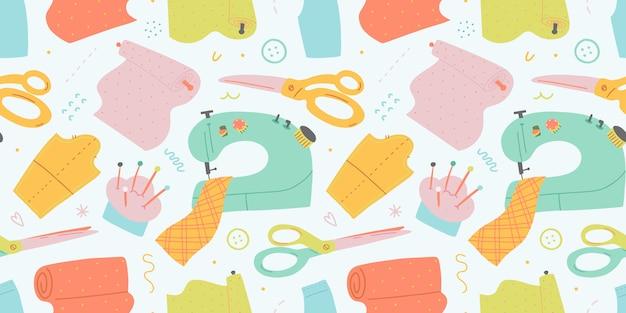 Macchina per cucire e strumenti, modello senza cuciture