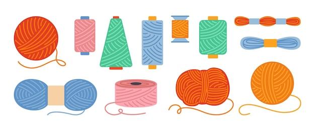 Fili per cucire o set di cartoni animati di filati bobina e contorno della bobina
