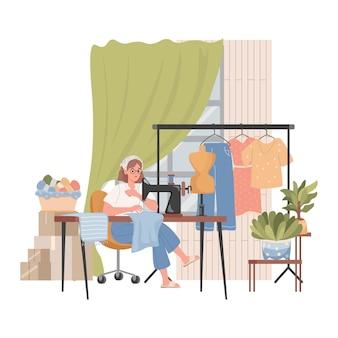 Cucito interno laboratorio o hobby di cucito
