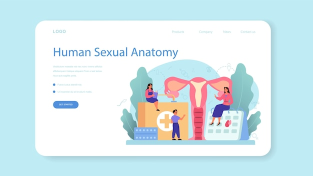 Banner web o pagina di destinazione per l'educazione sessuale
