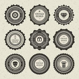 Etichetta di emblemi vintage squallido.