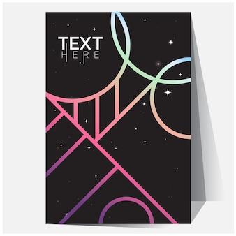 Sfumature di geometriche olografiche poster olografico futuristico con maglia sfumata