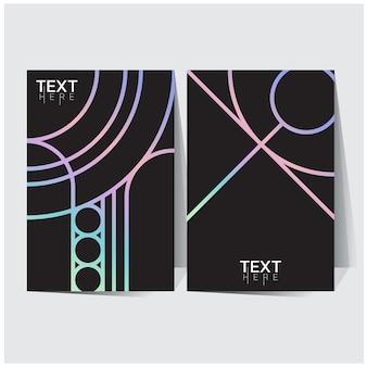 Sfumature di olografico poster olografico futuristico con maglia sfumata