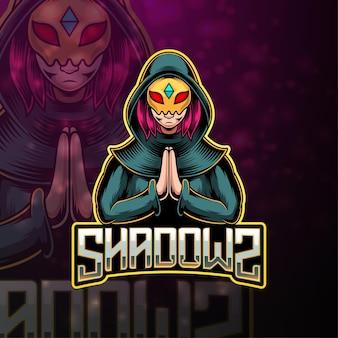 Design del logo mascotte shadow esport