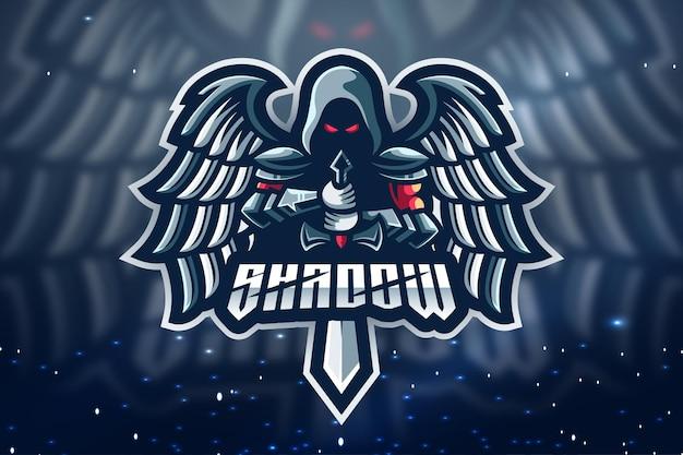 Design del logo della mascotte di shadow esport