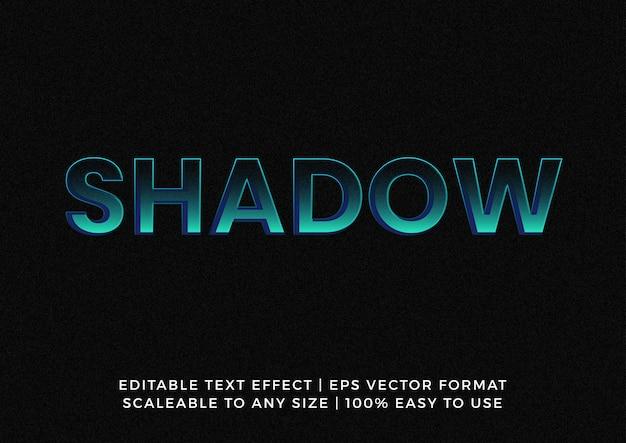 Effetto testo del titolo della tipografia della luce dell'ombra