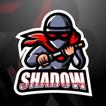 Illustrazione di esport mascotte ombra