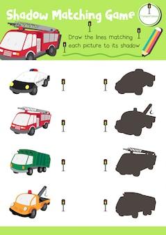 Gioco di abbinamento ombra trasporto
