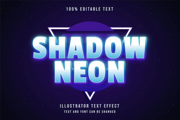Effetto di testo modificabile al neon ombra