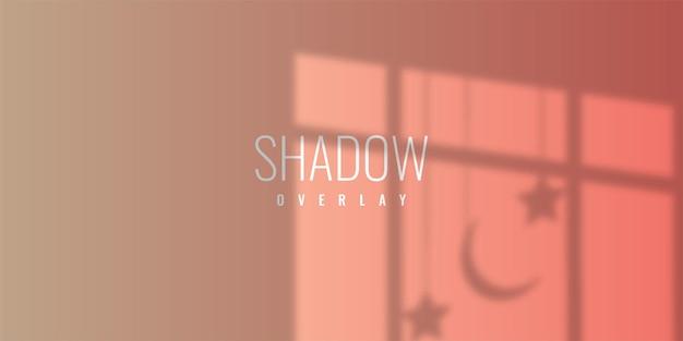 Progettazione del modello dell'illustrazione del fondo della sovrapposizione dell'ombra