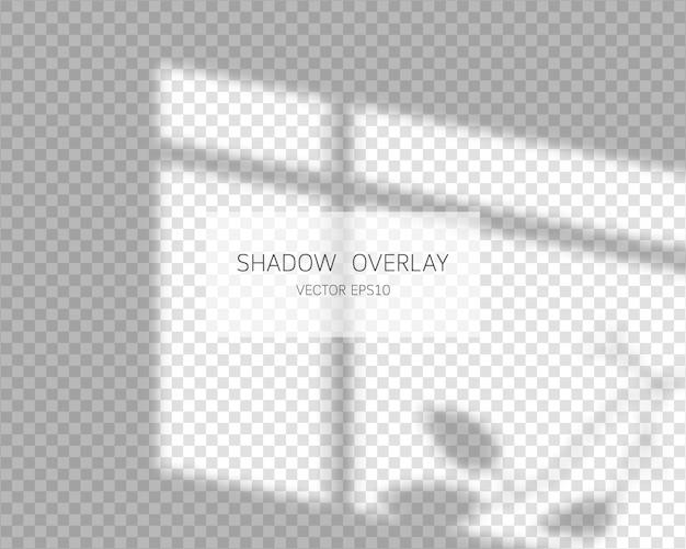 Effetto di sovrapposizione dell'ombra. ombre naturali dall'illustrazione isolata finestra.