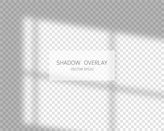Effetto di sovrapposizione dell'ombra. ombre naturali dalla finestra isolato su sfondo trasparente. illustrazione.