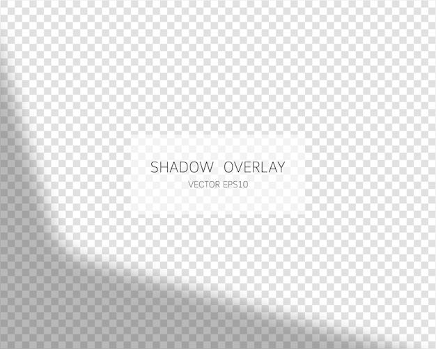 Effetto di sovrapposizione dell'ombra. ombre naturali dalla finestra su sfondo trasparente. illustrazione.