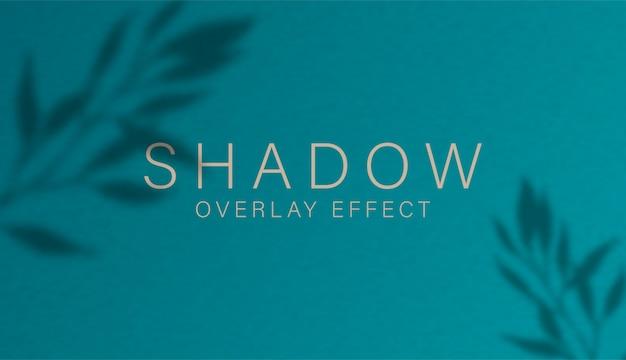 Effetto di sovrapposizione dell'ombra. luce morbida trasparente e ombre da rami, piante, fogliame e foglie.