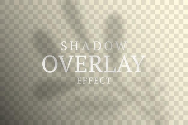 Effetto di sovrapposizione dell'ombra. luce morbida trasparente e ombre da rami di piante, foglie e fogliame.
