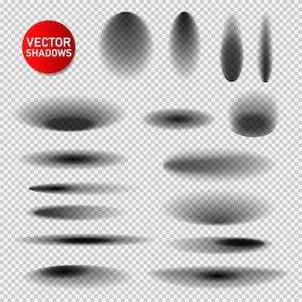 Ombre impostate su trasparente. ombra isolata realistica