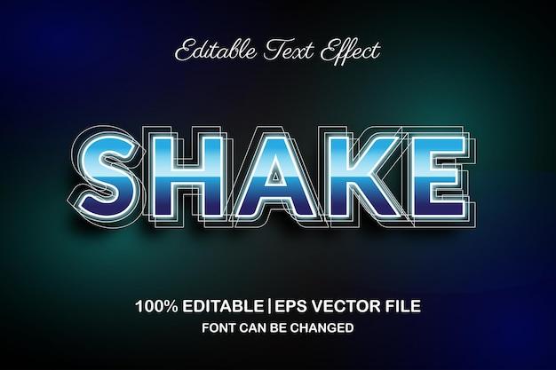 Scuoti l'effetto di testo modificabile in 3d