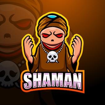 Esportatore mascotte sciamano