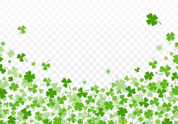 L'acetosella o il trifoglio lascia il motivo di sfondo verde di design piatto