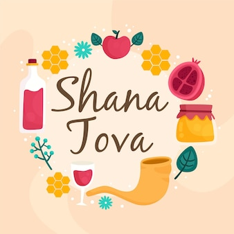 Shana tova con cibo e vino
