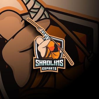 Logo della mascotte di shaolin esport