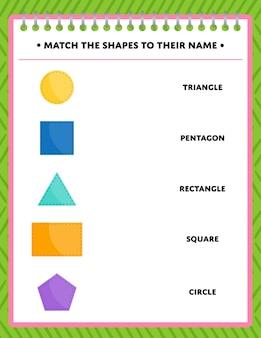 Attività di corrispondenza delle forme per bambini