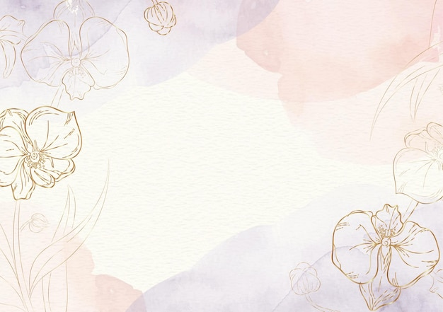 Forme di fiori con sfondo splash