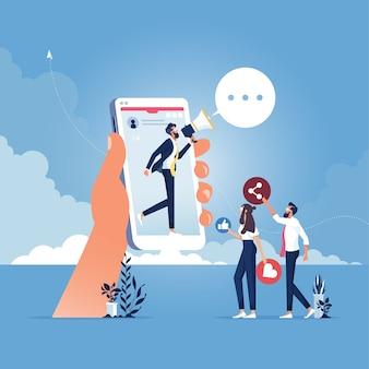 Condivisione di informazioni, pubblicità online, marketing online