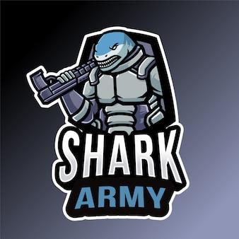 Emblema dell'esercito di squalo