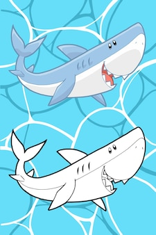 Cartone animato di squalo