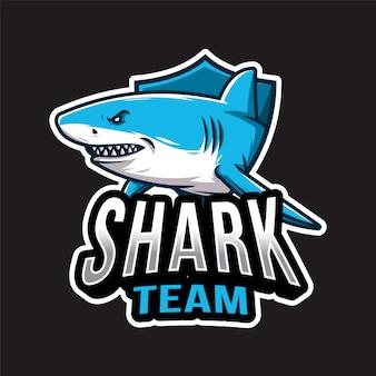 Logo di squalo esport