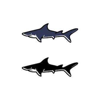 Design del logo dello squalo