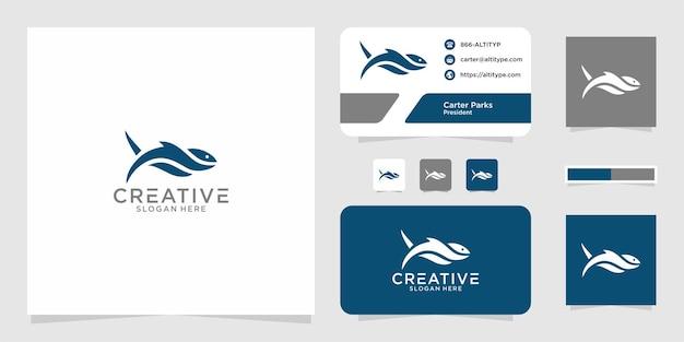 Il design grafico del logo dello squalo per altri usi è perfetto