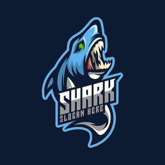 Mascotte del logo dello squalo