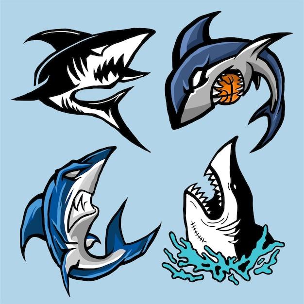 Raccolta vettoriale di squalo