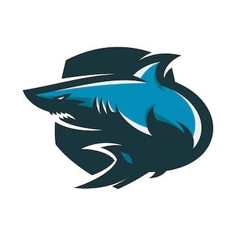 Squalo - logo vettoriale / icona illustrazione mascotte