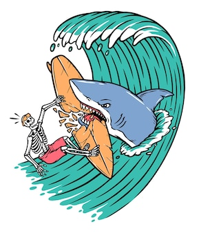 Gli squali attaccano i surfisti