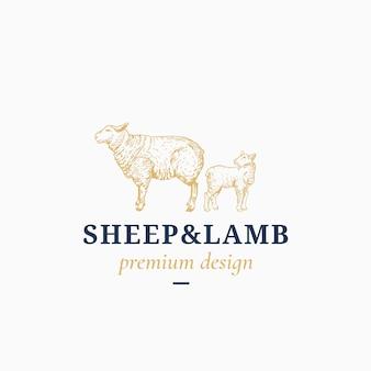 Logo di pecora e agnello