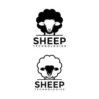 Modello di logo di pecore