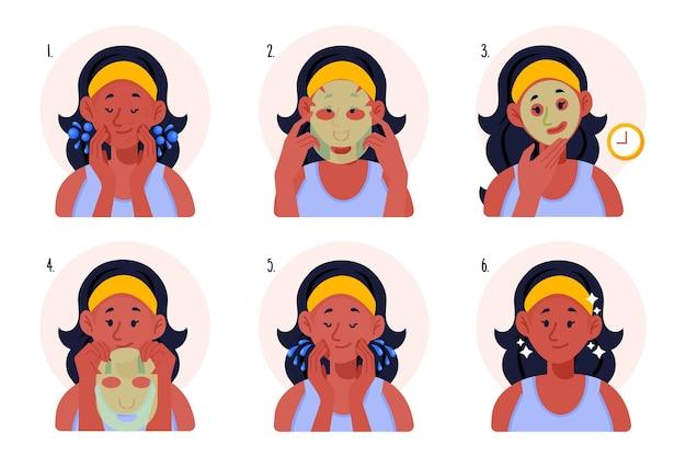 Concetto di istruzioni maschera foglio