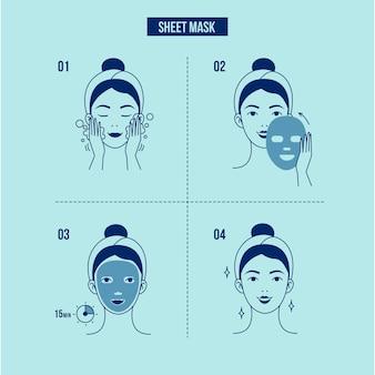 Istruzioni maschera foglio