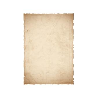Foglio di carta vecchia