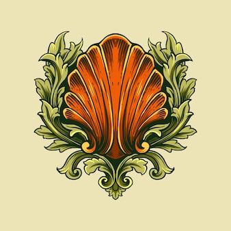 Ornamento decorativo di conchiglia