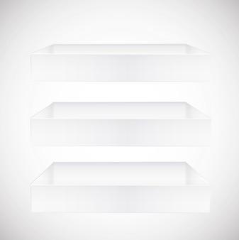 Mensole su sfondo bianco