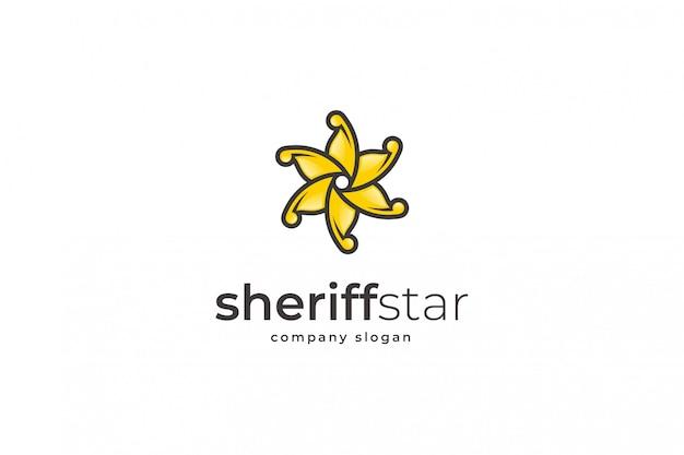 Modello di logo della stella dello sceriffo