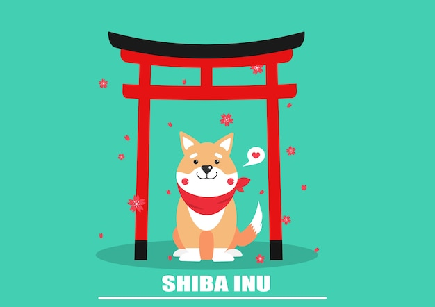 Vettore del cane di shiba inu